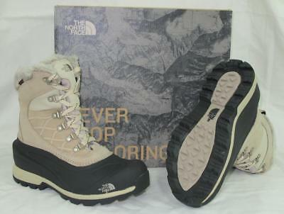 6e32a86c0 NEW $155 NORTHFACE Womens CM67 Chilkat 400 Boots Simply Taupe Brown Black  8.5
