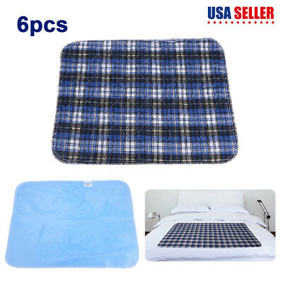 6 x Reusable Washable PVC Waterproof Bed Underpad Pad Heavy Duty Quick-Drying US
