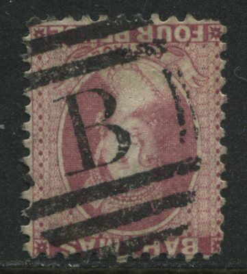 Bahamas QV 1882 4d rose perf 12 used