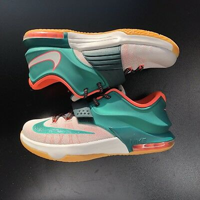 more photos 74cdd 7a651 NIKE KD VII 7 Easy Money Mystic 653996-330 Green Mango White Size