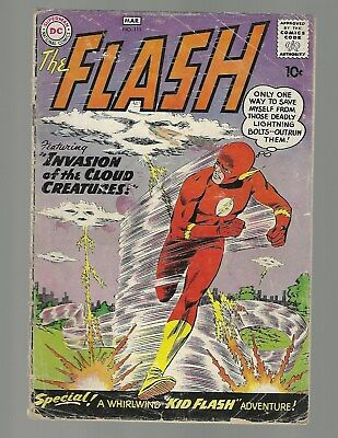 """Flash #111 2nd Kid Flash """"MISING CENTERFOLD"""" Incomplete"""