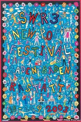 SWR3 New Pop Plakat James Rizzi 84 x 59,5 - NEU