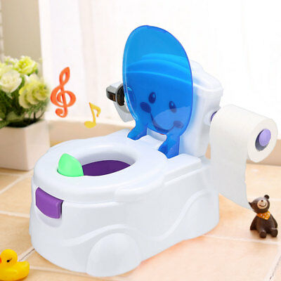 2 in 1 Baby WC Trainer Kind Kleinkind Kinder Musik Töpfchen Training Sitz Sale