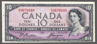 1954 Bank of Canada - $10.00 Devil Face Note - VF - Coyne Towers E/D 9676640