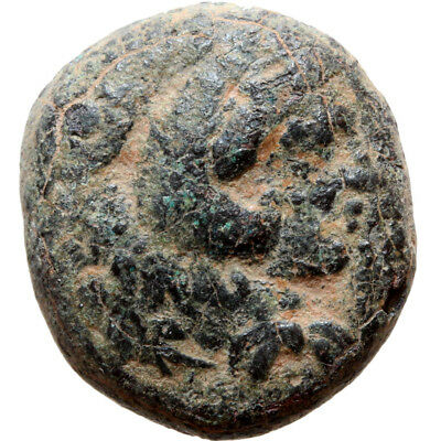 Ancient Greek coin AE 18 Macedon Alexander The great 336-323 BC