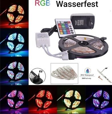 💖 5m LED Strip e RGB stripe Band streifen 3528 Lichtband trafo 💝