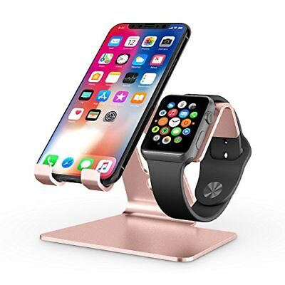 2 in 1 Universal Desktop Cell Phone Stand and Apple Watch Stand 4mm Thickness