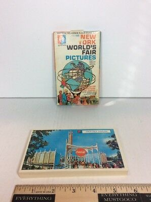 Vtg 1964-1965 New York World's Fair Pictures 28 Flash Photo Card Set Complete