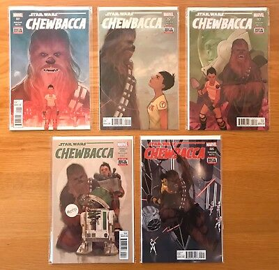 New Unread Chewbacca Complete Issues 1-5 Marvel Star Wars Comics First Prints