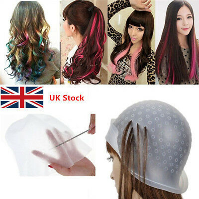 Professional Reusable Hair Coloring Highlighting Rubber Cap Streaking with Hook