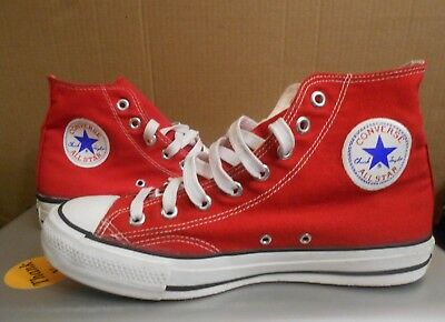 a1358b5b9c4d Vintage Converse All Star HI Made In USA Korea red white 1980 s 90 s OG Sz 8
