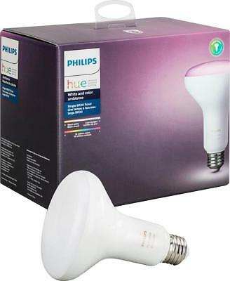 Philips - Hue White and Color Ambiance BR30 Wi-Fi Smart LED Floodlight Bulb -...