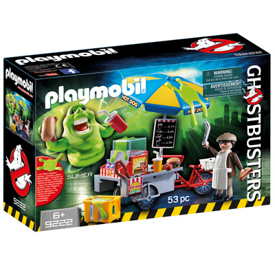 Playmobil - Ghostbusters - Slimer with Hot Dog Stand 9222 Plus Bonus Klicky Fig