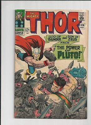 The Mighty Thor #128 - Sharp Vg - Hercules Appearance