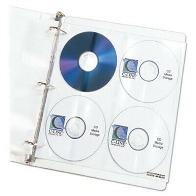 C-line Deluxe CD Ring Binder Storage Pages, Stores 8 CDs, 5/Pack (CLI61948)