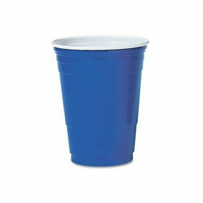 Solo Plastic Party Cold Cups, 16-oz., Blue, 50 Cups (DCCP16BPK)