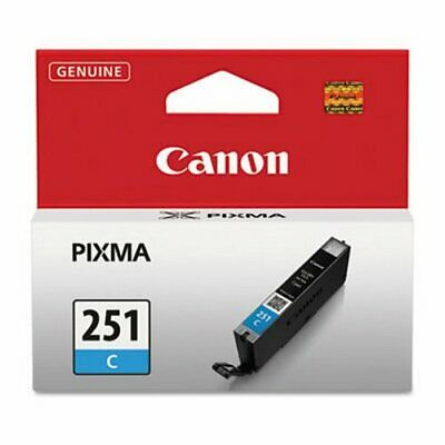 Canon 6514B001 (CLI-251) Ink, 9 mL, Cyan (CNM6514B001)