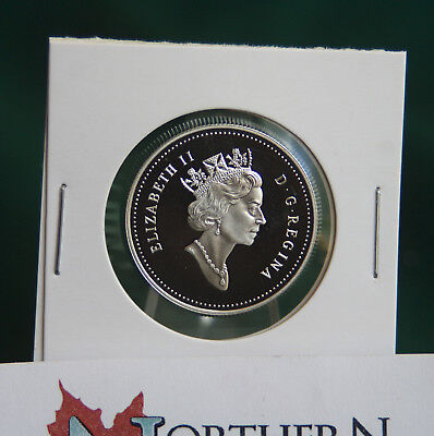 2004 Canada 50 cent silver coin w DDPHunt design used on (1990-03) proof finish