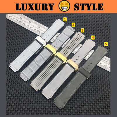 6d0abf689b6 MAGNIFICENT Grey Series Leather Rubber Watch Strap Band 4 Hublot Big Bang  Fusion