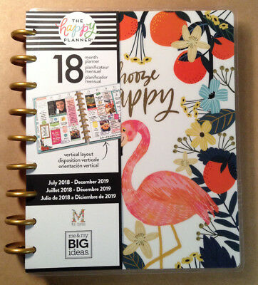 """NEW DESIGN! 2018-2019 Happy Planner CLASSIC """"HAND DRAWN WHIMSY""""   *VERTICAL*"""