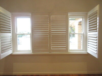 PLANTATION SHUTTERS -  SET OF SHUTTERS IN FRAME 2905w x 1525h, now removed, 2bv
