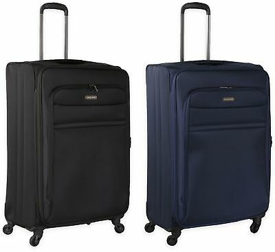 Travel Luggage Softside 28 in Expandable Rolling Spinner wheel Upright Suitcase