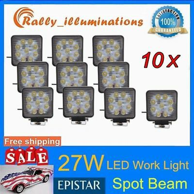 10X 27W 12V 24V LED Work Light SPOT Light Jeep Boat SUV ATV Offroad Truck 4X4WD