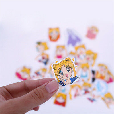 33pcs Set Anime Sailor Moon Sticker Cartoon DIY Scrapbook Craft Decor New Hot