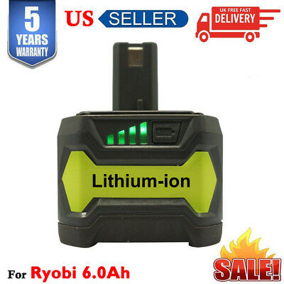 6.0Ah 18V P108 for RYOBI ONE PLUS P102 P104 P106 Li-ion High Capacity Battery US