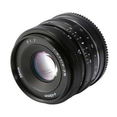 35mm F1.7 Large Aperture Manual Prime Fixed Lens for Sony E-Mount Cameras LF843