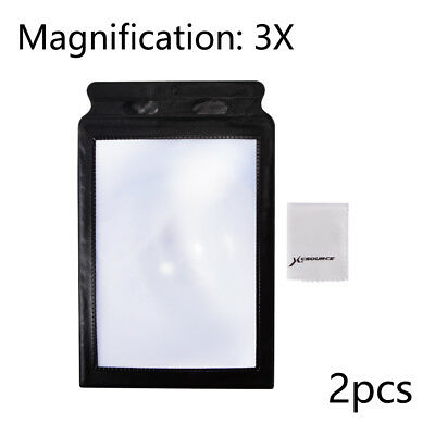 2pcs Magnifying Page 3X Magnifier A4 Sheet Foldable Book Reading Aid Lens FA320