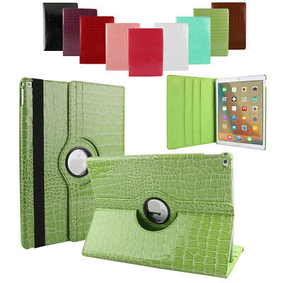 360 Rotating Leather Flip Stand Smart Cover Case For Apple iPad 9.7 2018 6th Gen