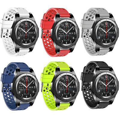 Silicone Bracelet Strap Watch Band For Samsung Gear S3 Frontier Classic 22mm