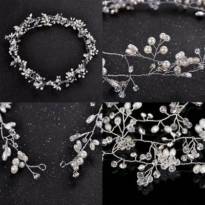 Wedding Hair Band Vine Crystal Bridal Accessories Diamante Headpiece Headwear CU