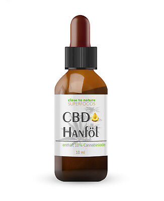 Hanföl 10% 1000 mg 10 ml - Hemp Oil Cannabisöl aus der EU