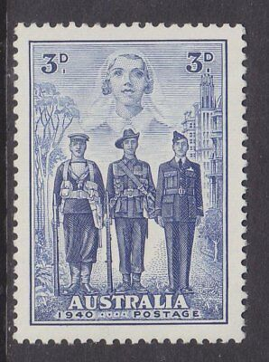1940 Australian Imperial Forces 3d Blue MUH SG 198 DD9
