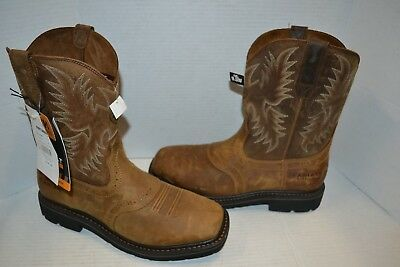 84a33f9c8d7e Ariat Mens Sierra SQUARE TOE 9.5 EE Cowboy WESTERN Work Boot Aged Bark  10010134