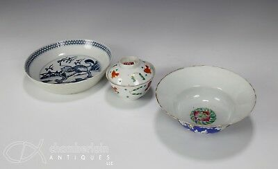Interesting Lot Of Chinese Porcelain Bowls Covered Bowl Dish