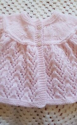 Hand Knitted Baby Matinee /cardigan
