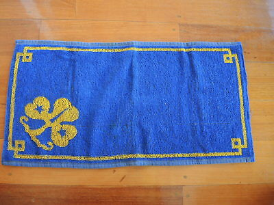 Girl Guides Hand Towel from 1980's Rare *FREE POSTAGE**