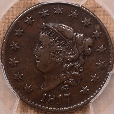 1817 N.16 15 Star Large cent, PCGS VF25, wonderfully pleasing DavidKahnRareCoins