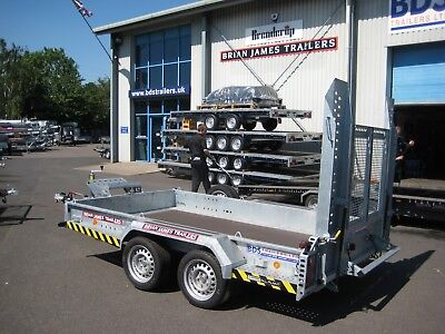 Brian James All Plant Trailer 3.1m x 1.85m 3500kg Digger Bucket Rest Warranty