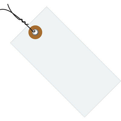 """Tyvek Shipping Tags Pre-Wired 4 1/4"""" x 2 1/8"""" White 1000/Case G13043"""
