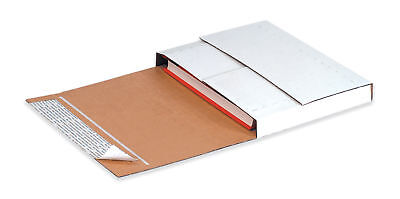"""Box Partners Deluxe Easy-Fold Mailers 11 1/8"""" x 8 5/8"""" x 2"""" White 25/Bundle"""