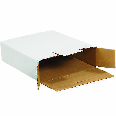 "Box Partners Side Loading Locking Mailers 11 1/8"" x 8 5/8"" x 2 1/2"" White 50"