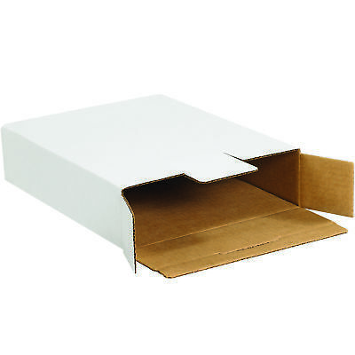 "Box Partners Side Loading Locking Mailers 12 1/8"" x 11 5/8"" x 2 5/8"" White 50"