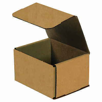 "Box Partners Corrugated Mailers 5"" x 5"" x 3"" Kraft 50/Bundle M553K"