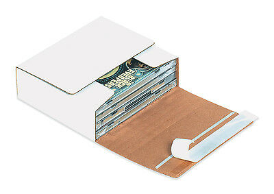 "Box Partners Self-Seal CD Mailers 5 3/4"" x 5 1/16"" x 1 3/4"" White 200/Bundle"