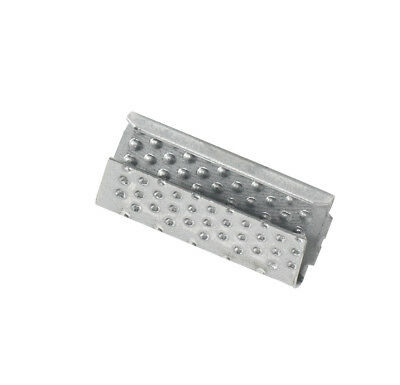 Box Partners Serrated Open/Snap On Polyester Strapping Seals 1/2' Silver 1000