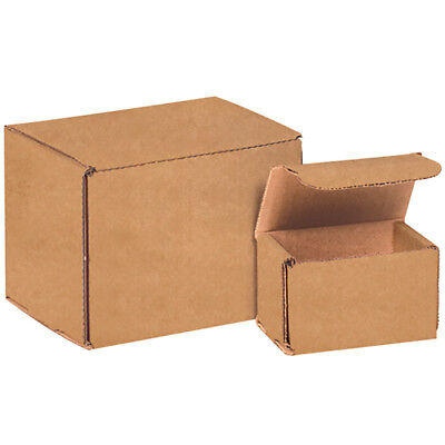 "Box Partners Corrugated Mailers 5"" x 5"" x 5"" Kraft 50/Bundle M555K"